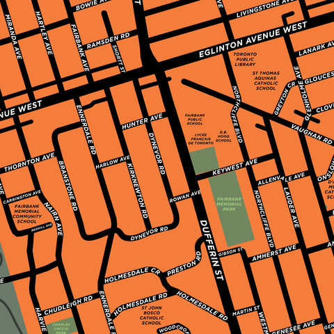 Fairbank Neighbourhood Map Print