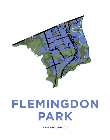 Flemingdon Park Neighbourhood Map Print