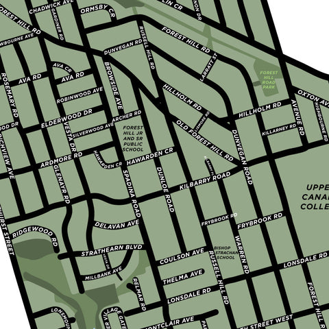 Forest Hill Neighbourhood Map Print