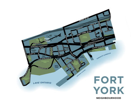 Fort York Neighbourhood Map Print