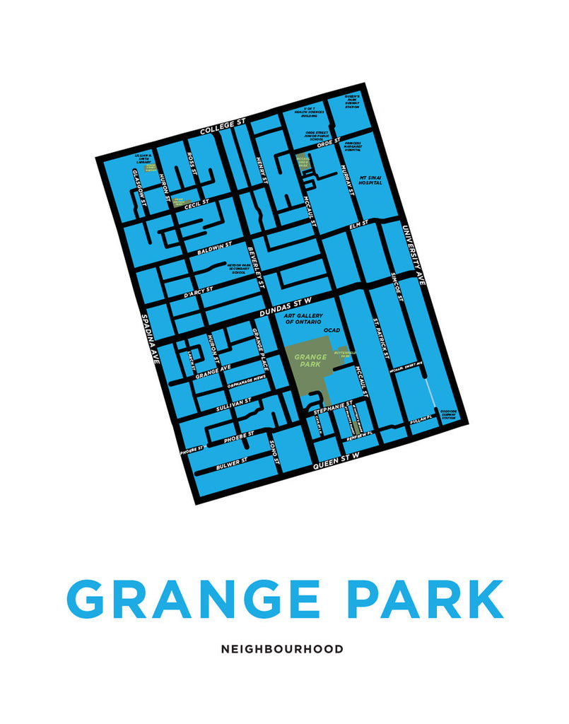 Grange Park Neighbourhood Map Print