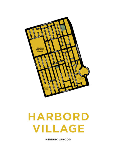 Harbord Village Neighbourhood Map Print