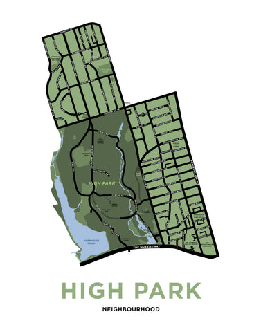 High Park Neighbourhood Map Print
