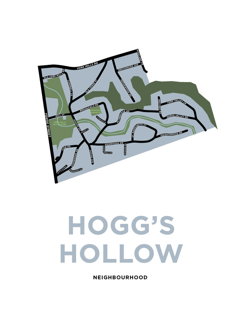 Hogg's Hollow Neighbourhood Map Print