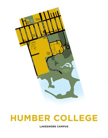 Humber College Lakeshore Campus Map Print