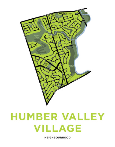 Humber Valley Village Map Print