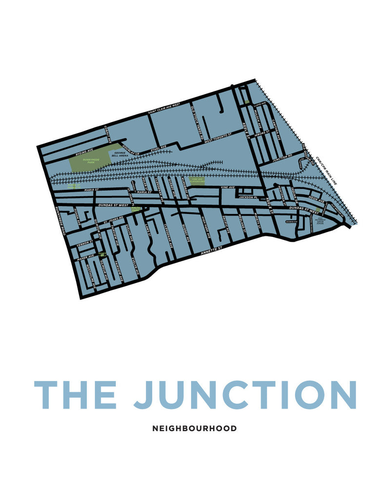 The Junction Neighbourhood Map Print (Toronto)