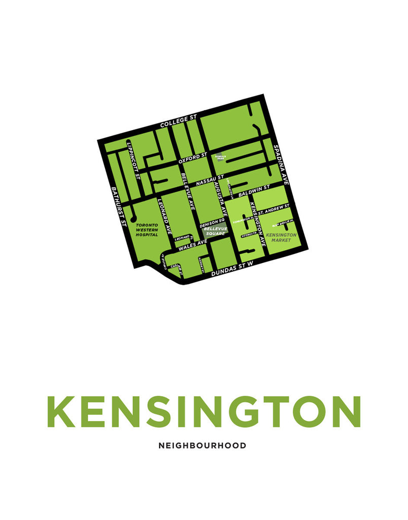 Kensington Neighbourhood Map Print