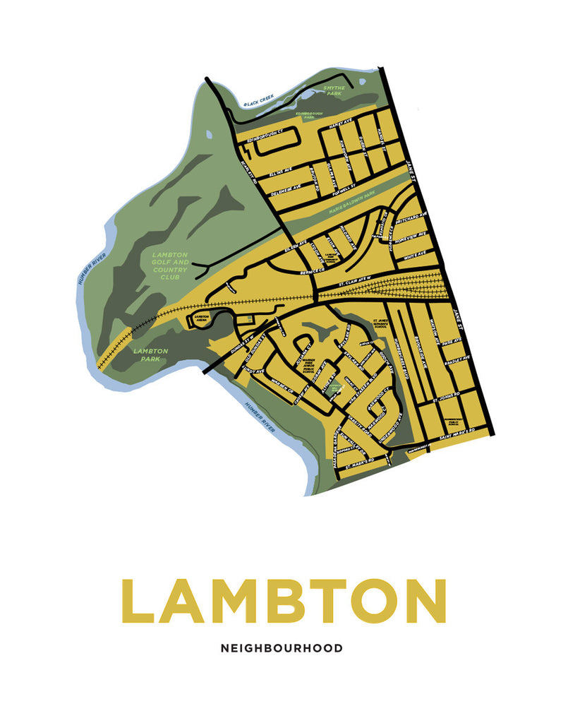 Lambton Neighbourhood Map Print