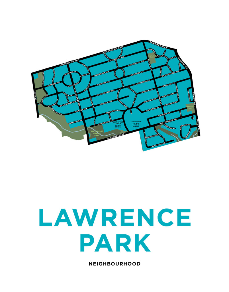Lawrence Park Neighbourhood Map Print