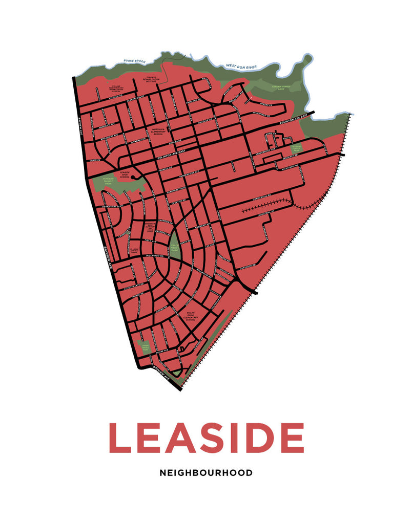 Leaside Neighbourhood Map Print