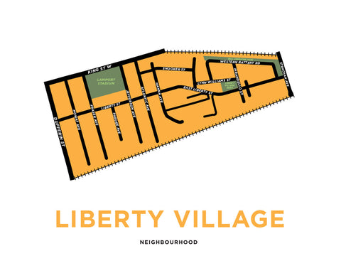 Liberty Village Neighbourhood Map Print