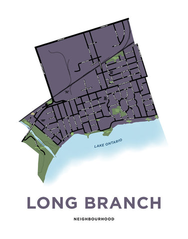 Long Branch Neighbourhood Map Print