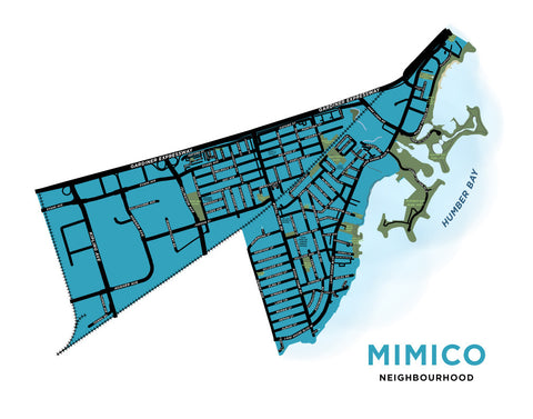 Mimico Neighbourhood Map Print