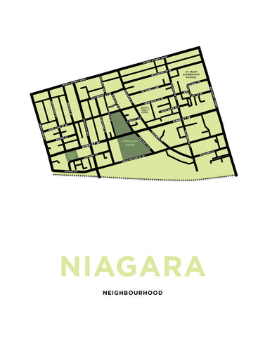 Niagara Neighbourhood Map Print (Toronto)