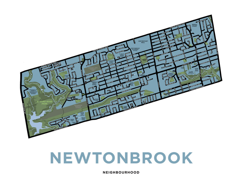 Newtonbrook Neighbourhood Map