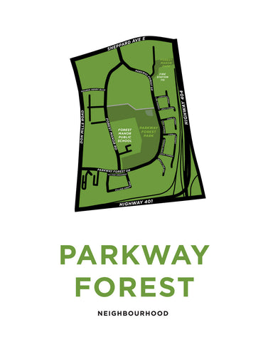 Parkway Forest Neighbourhood Map Print
