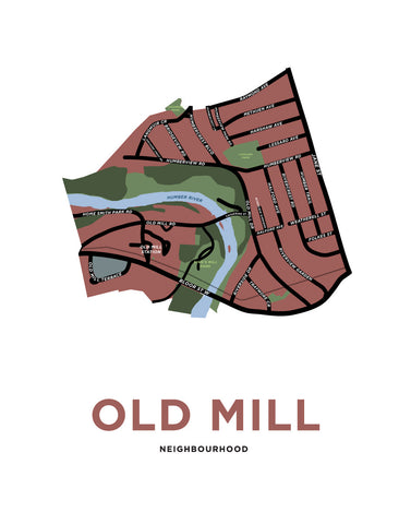 Old Mill Neighbourhood Map (Toronto)