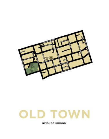 Old Town Neighbourhood Map Print