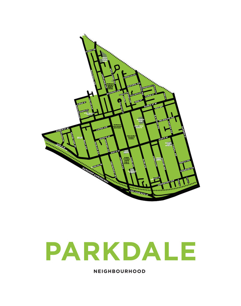 Parkdale Neighbourhood Map Print