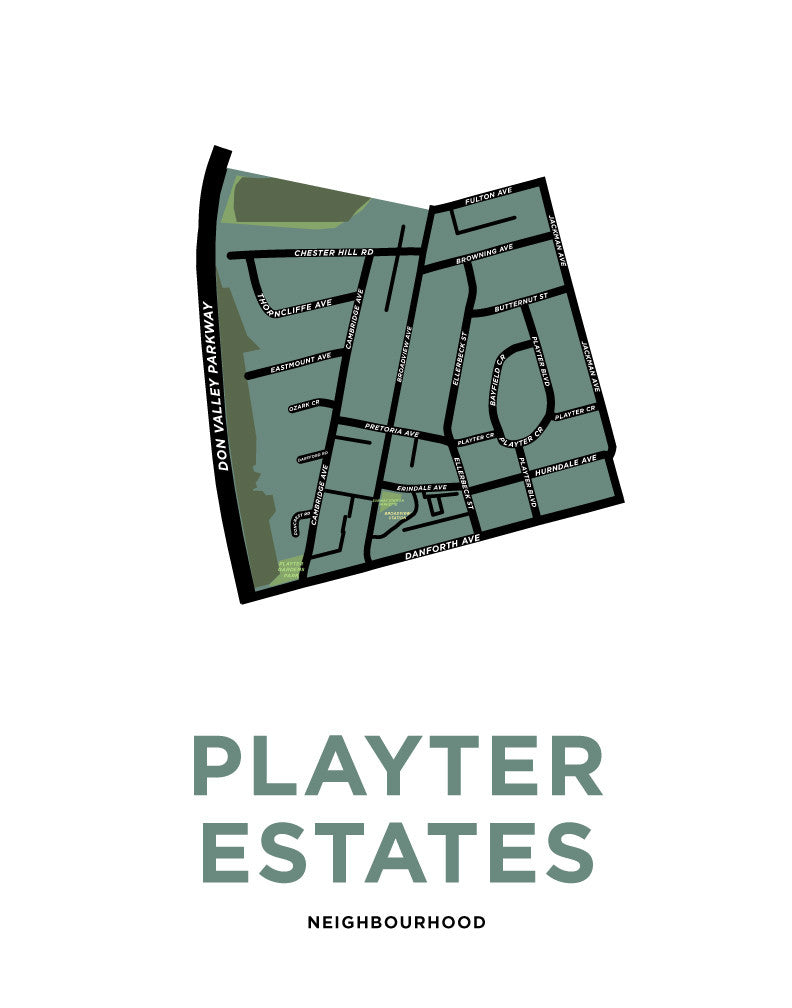 Playter Estates Map Print