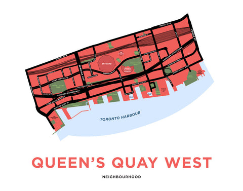 Queen's Quay West Neighbourhood Map