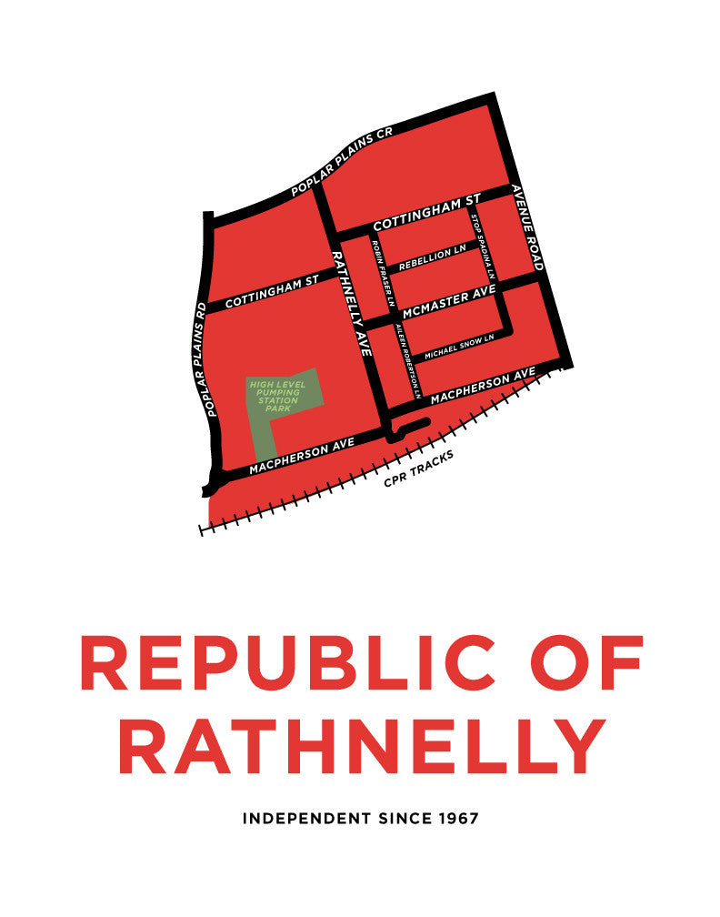 Republic of Rathnelly Map Print