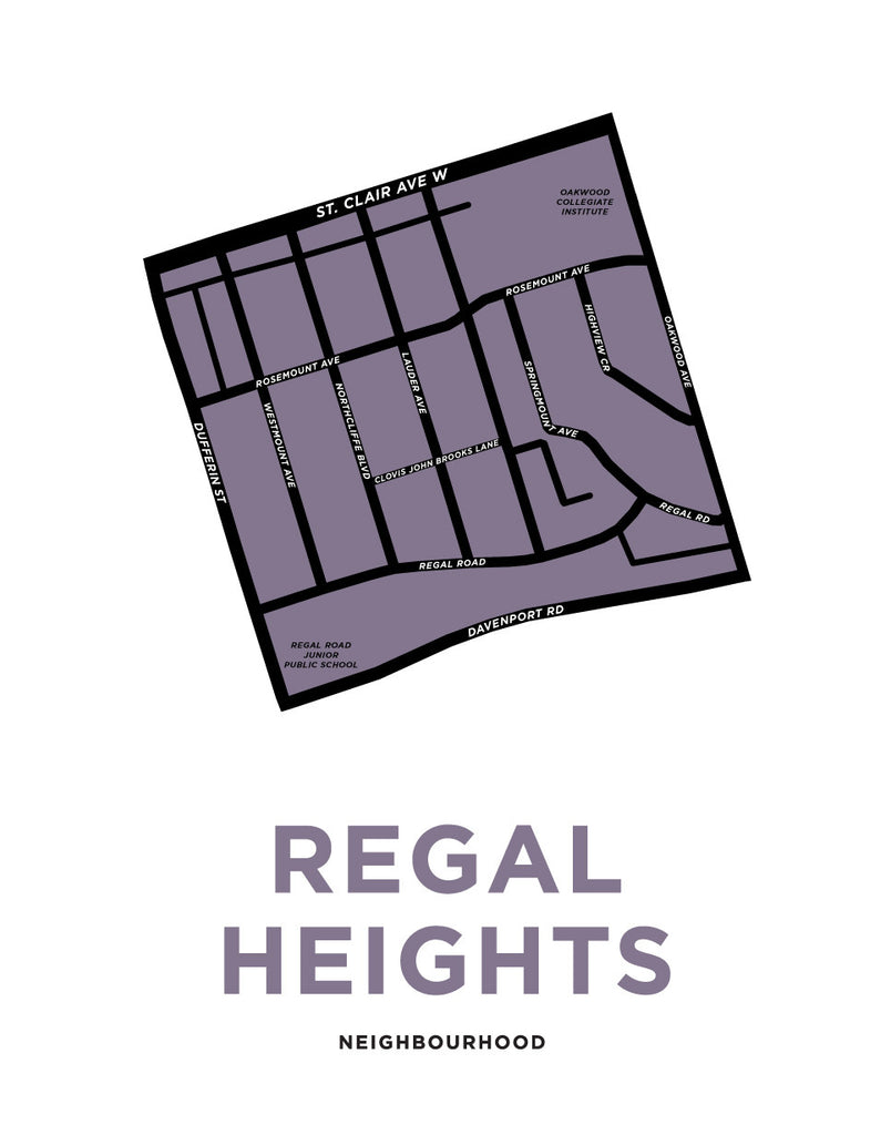 Regal Heights Neighbourhood Map Print