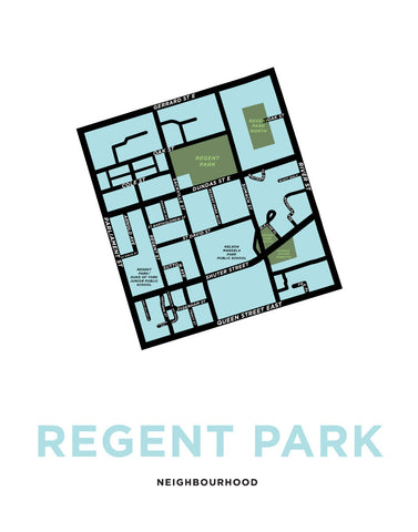 Regent Park Neighbourhood Map Print