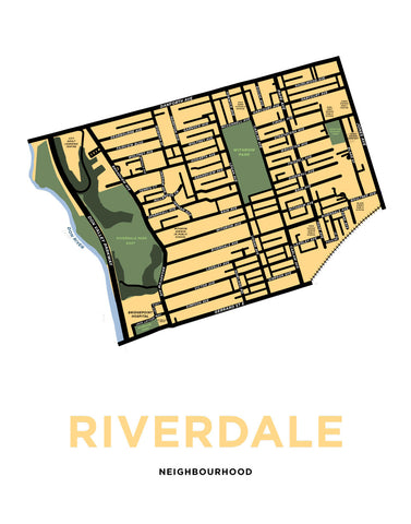 Riverdale Neighbourhood Map (Toronto)