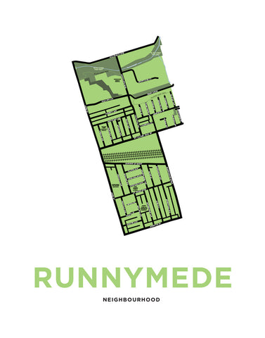 Runnymede Neighbourhood Map Print