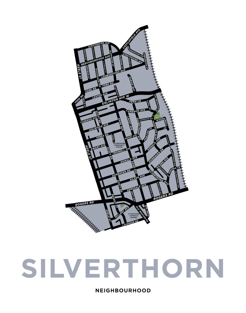 Silverthorn Neighbourhood Map Print