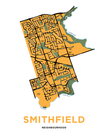Smithfield Neighbourhood Map Print