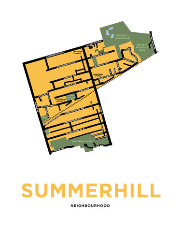 Summerhill Neighbourhood Map Print