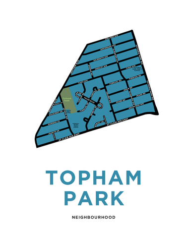 Topham Park Neighbourhood Map Print