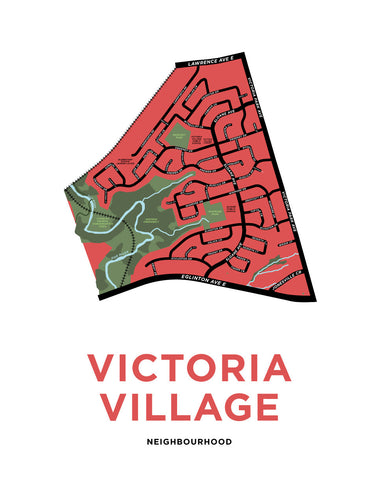 Victoria Village Neighbourhood Map Print
