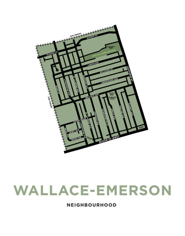 Wallace Emerson Neighbourhood Map Print