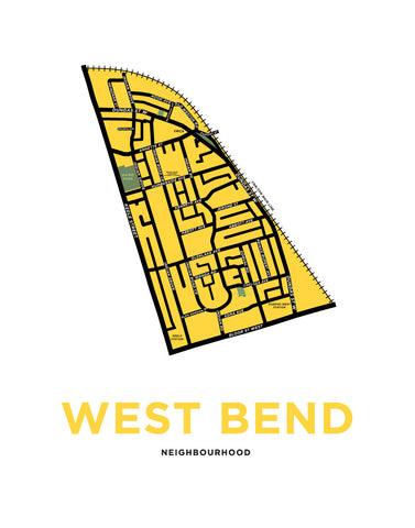West Bend Neighbourhood Map Print