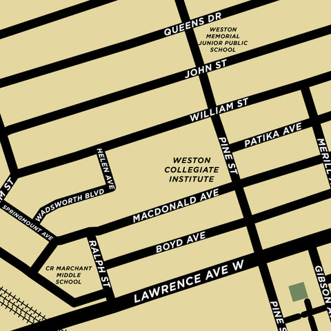 Weston Neighbourhood Map