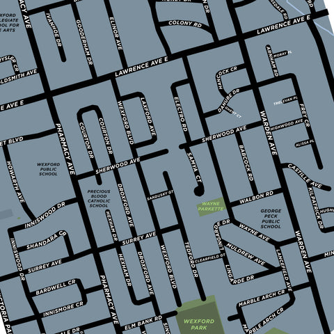 Wexford Neighbourhood Map Print