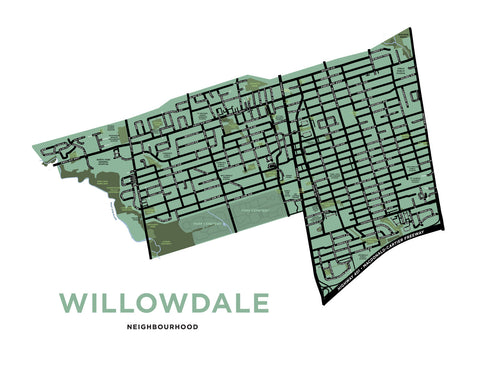 Willowdale Neighbourhood Map Print