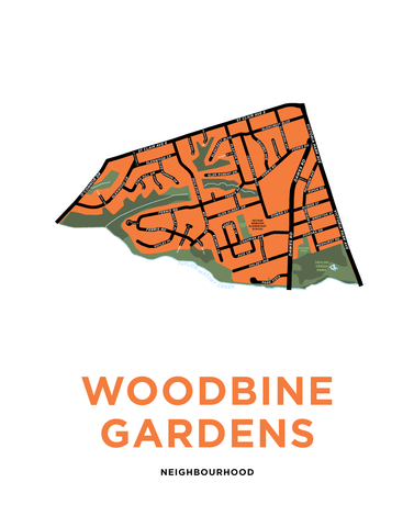 Woodbine Gardens Neighbourhood Map Print