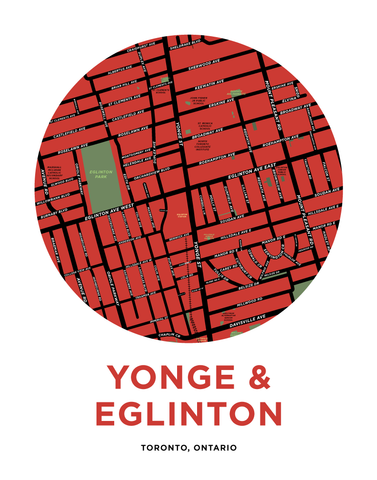 Yonge and Eglinton Map Print