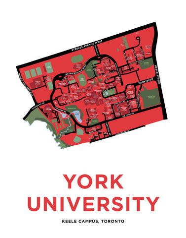 York University - Keele Campus Map Print