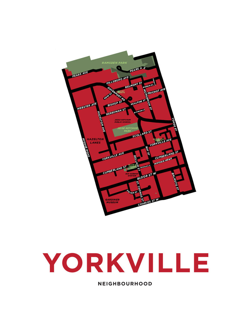 Yorkville Neighbourhood Map Print