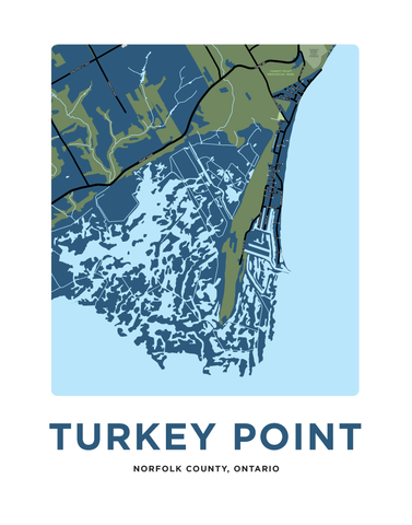 Turkey Point Map Print