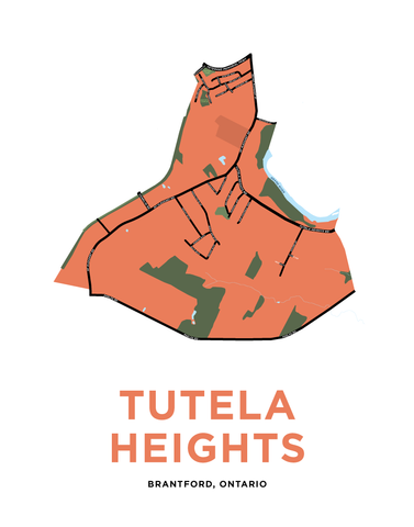 Tutela Heights Neighbourhood Map Print