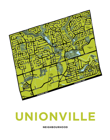 Unionville Neighbourhood Map Print