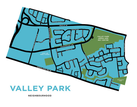 Valley Park Neighbourhood Map