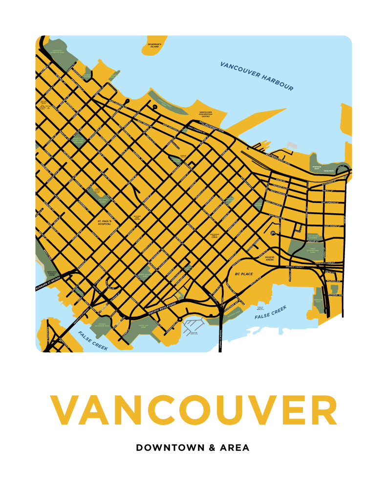 Vancouver - Downtown Neighbourhood Map